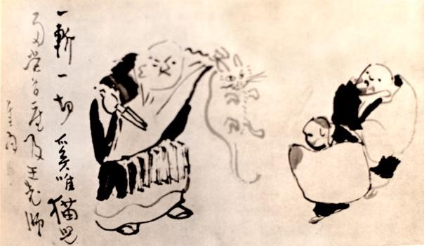 Sengai - Nan-ch'uan Threatening to Chop the Kitten in Two